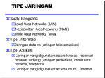 tipe jaringan