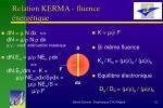 relation kerma fluence nerg tique