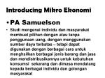 introducing mikro ekonomi