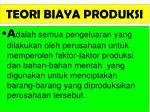 teori biaya produksi1