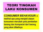 teori tingkah laku konsumen