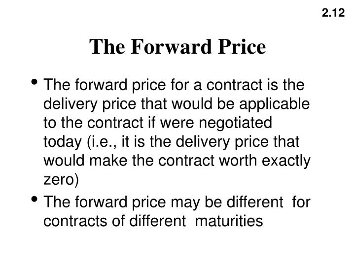 The Forward Price