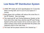 low noise rf distribution system