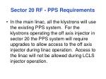 sector 20 rf pps requirements
