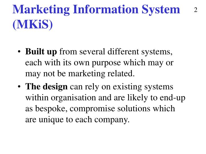 Marketing information system mkis1
