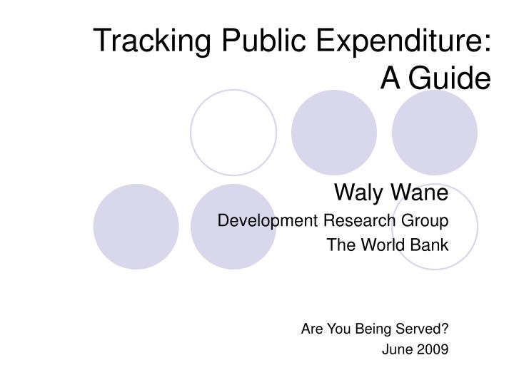 tracking public expenditure a guide n.
