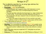arrays in c n