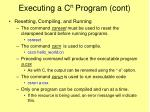executing a c n program cont