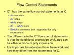 flow control statements