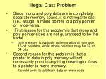 illegal cast problem