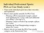 individual professional sports pga as case study cont
