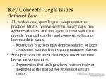 key concepts legal issues antitrust law