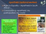 apartheid optional section