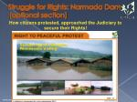 struggle for rights narmada dam optional section