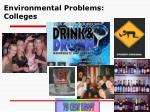 environmental problems colleges