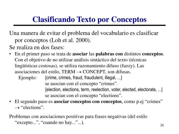 Clasificando Texto por Conceptos