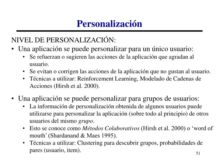 Personalización
