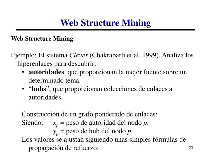 Web Structure Mining