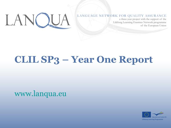 clil sp3 year one report n.