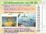 4 full demonstrator line 98 00