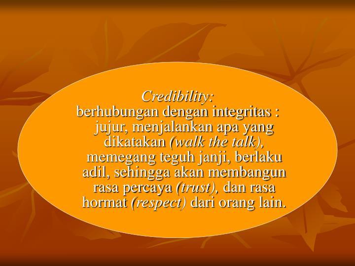 Credibility: