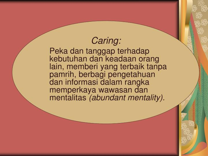 Caring: