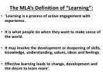 the mla s definition of learning