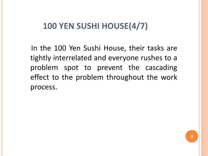 100 yen sushi house essay example