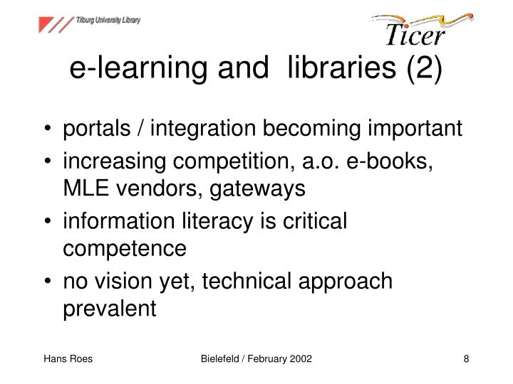e-learning and  libraries (2)