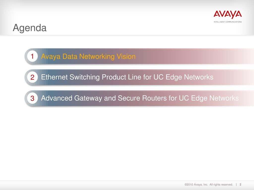 PPT - Avaya Data Solutions Edge networks for UC PowerPoint