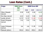 loan rates cont