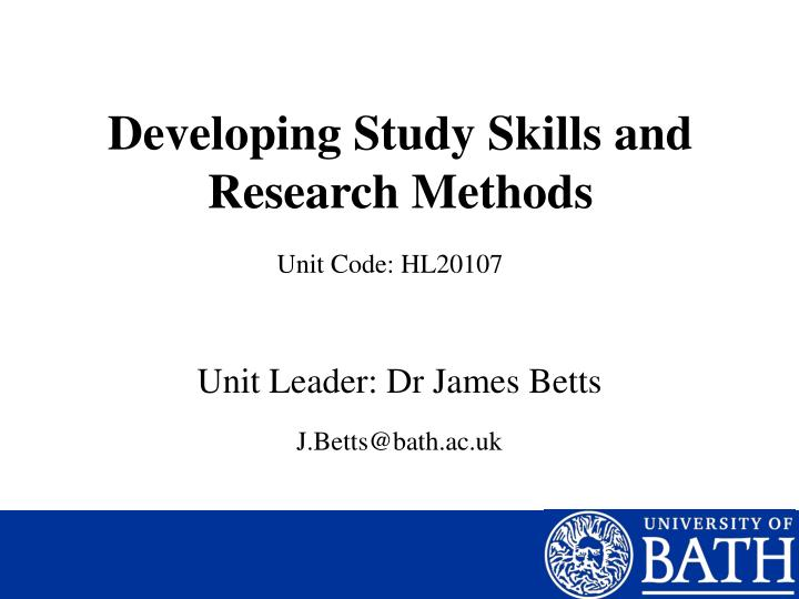 developing research skills