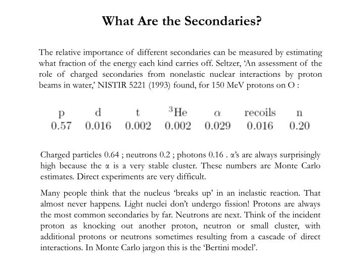 What Are the Secondaries?