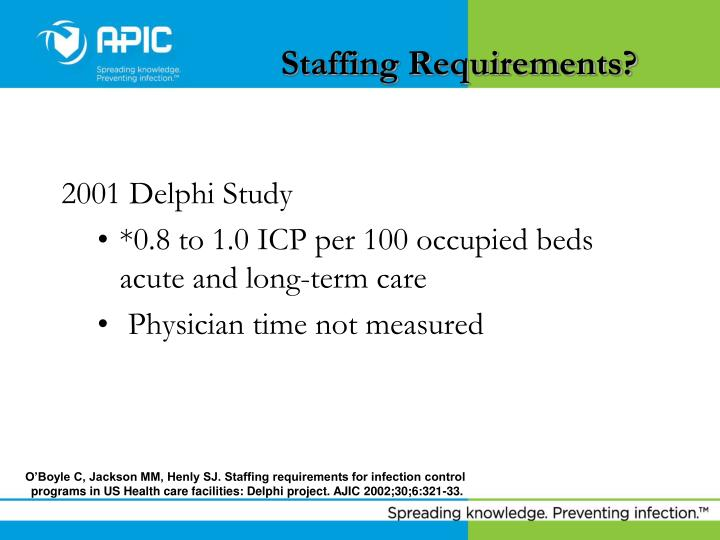 Staffing Requirements?