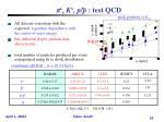 p k p p test qcd1