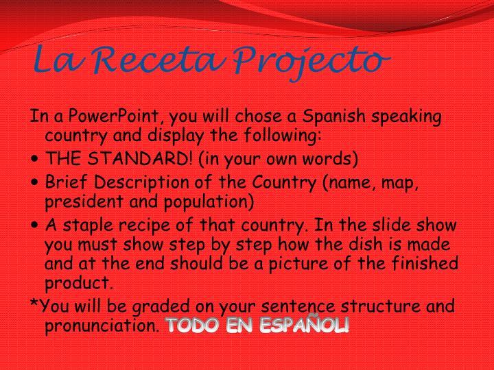 La receta projecto1