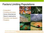 factors limiting populations1