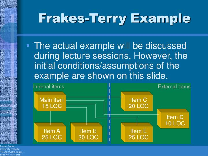 Frakes-Terry Example