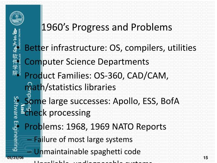1960's Progress and Problems
