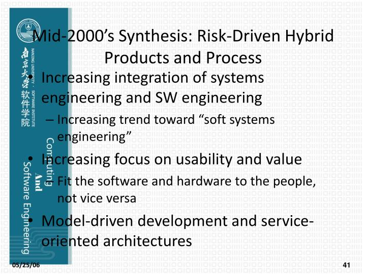 Mid-2000's Synthesis: Risk-Driven Hybrid Products and Process