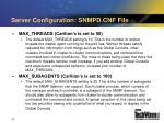 server configuration snmpd cnf file