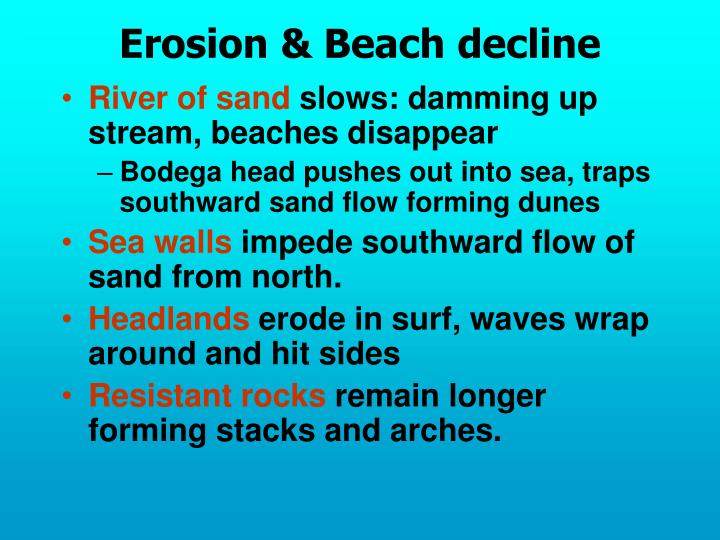Erosion & Beach decline