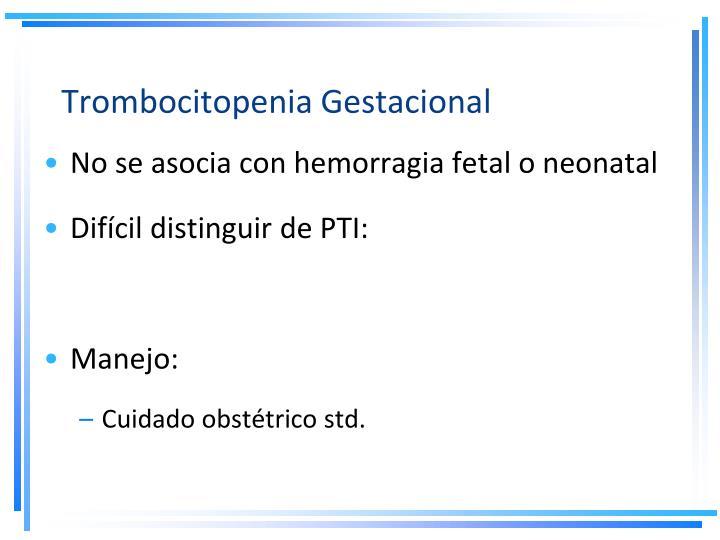 Trombocitopenia Gestacional