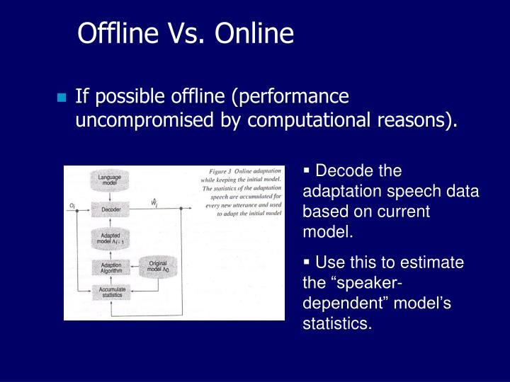 Offline Vs. Online