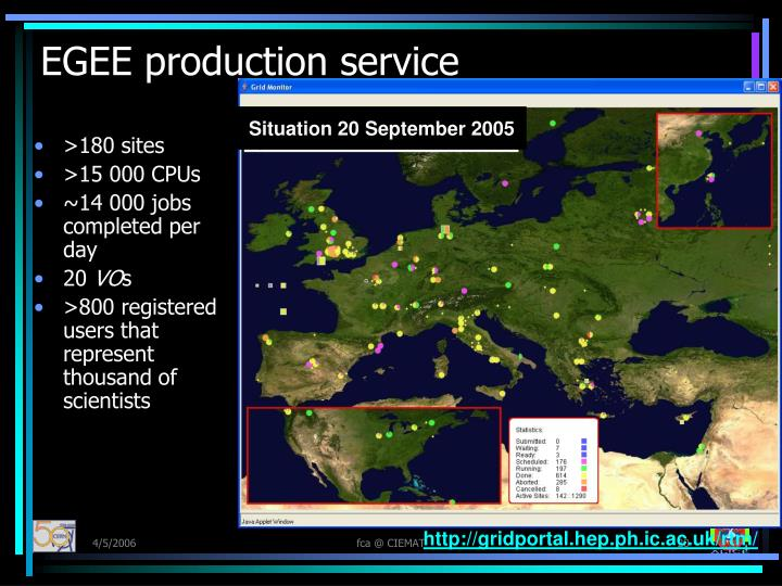 EGEE production service