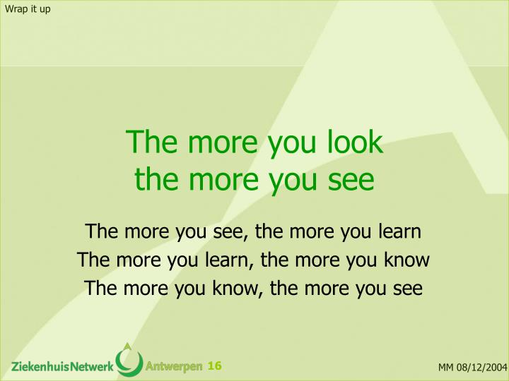 The more you look