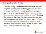 that s good news for ngos
