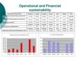 operational and financial sustainability