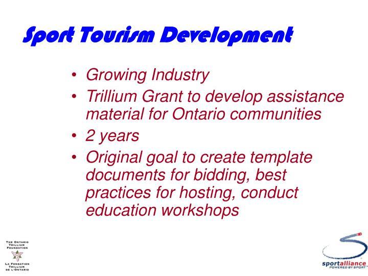 Sport Tourism Development