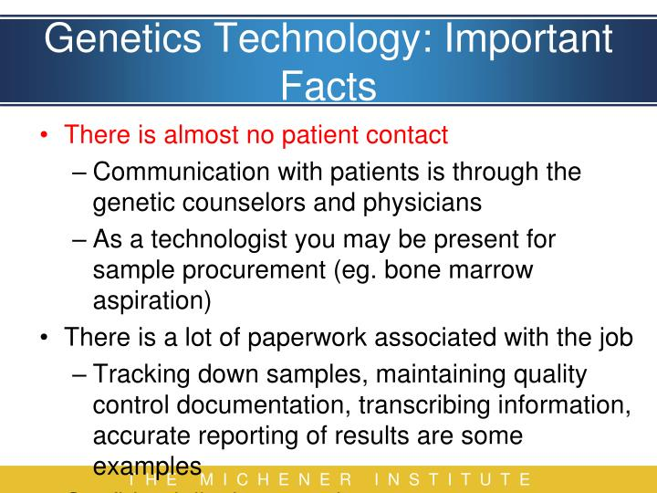 Genetics Technology: Important Facts